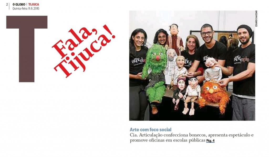 Clipping - O Globo Tijuca - 11 de junho 2015